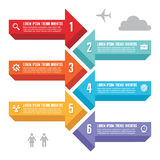 Infographic Business Concept for Presentation Stock Images