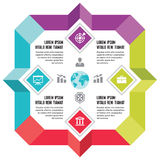 Infographic Business Concept for Presentation Stock Photos