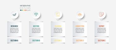 Business concept infographic template with section