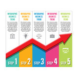Infographic Business Concept - Trend Vector Illust Royalty Free Stock Images