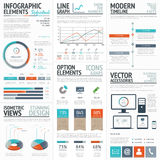 Infographic business and corporate analysis vector elements Stock Image