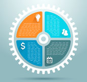 Infographic Business Flat Cog Graphic Stock Images