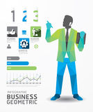 Infographic business geometric concept design colour . Royalty Free Stock Image