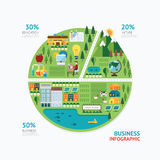 Infographic business graph shape template design. Stock Photography