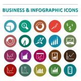 Infographic and business  icon set. Infographic and business  icons Vector illustration Stock Photo