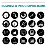 Infographic and business  icon set. Infographic and business  icons Vector illustration Stock Photos