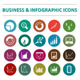 Infographic and business icon set. This is a vector illustration of Infographic and business icon set Royalty Free Stock Photography