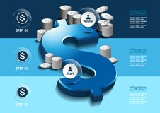 Infographic business royalty free illustration