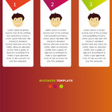 Infographic business information template. For any use Stock Photography