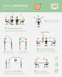 Infographic business marketing team on work process Stock Image