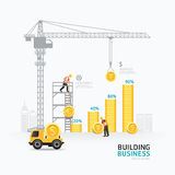 Infographic business money graph template design Stock Images