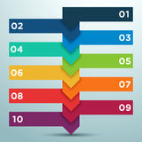 Infographic Business Options As A Ladder 1. Infographic business text box options numbered 1 to 10 overlapping and rising up like a ladder with an editable Royalty Free Stock Image