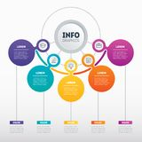Infographic or Business presentation with 5 options Dyna del vector Imagen de archivo