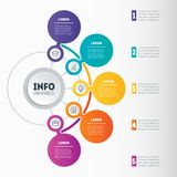 Infographic or Business presentation with 5 options Dyna del vector Fotos de archivo