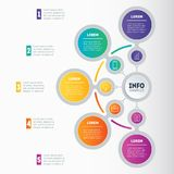 Infographic or Business presentation with 5 options. Vector dyna Stock Photography