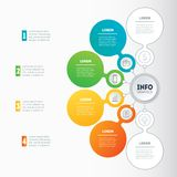 Infographic or Business presentation with 4 or 6 options. Web Te. Mplate of a chart, mindmap or diagram Vector dynamic infographics or mind map of technology or Stock Photo