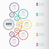 Infographic or Business presentation with 5 options Web Templat Fotografía de archivo libre de regalías