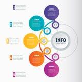 Infographic or Business presentation with 5 options Web Templat Imágenes de archivo libres de regalías