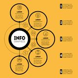 Infographic or Business presentation with 5 options Web Templat libre illustration