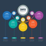 Infographic or Business presentation with 5 options. Web Templat. E of a chart, mindmap or diagram with 5 steps. Vector infographics or mind map of technology or Royalty Free Stock Images