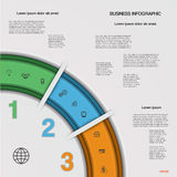 Infographic business process or workflow for Your  project. Royalty Free Stock Photo