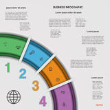 Infographic business process or workflow for Your  project. Stock Photography