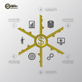 Infographic. Business success concept template. vector. Illustration Stock Photo