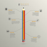 Infographic. Business success concept template. vector Royalty Free Stock Photos