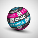 Infographic Business technology sphere of ideas. Stock Image