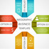 Infographic business template. 3d modern vector abstract infographic elements Stock Photos
