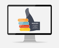 Infographic business template vector illustration Royalty Free Stock Image