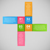 Infographic business template vector illustration Royalty Free Stock Photos