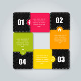 Infographic business template vector illustration Stock Photography