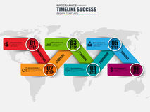 Infographic business timeline vector design template. Can be used for workflow layout, chart, diagram, infographic banner, steps processes, web design royalty free illustration