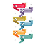 Infographic business vector concept in flat design style - vertical timeline banners. Royalty Free Stock Photography