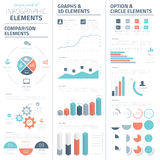 Infographic business vector elements collection Royalty Free Stock Images