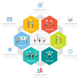 Infographic business working process concept. People character for infographic concept Royalty Free Stock Photos