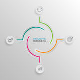 Infographic Bussiness 01. Background info-graphics white buttons number options template. Can be used for work flow layout, diagram, business step options Stock Photography