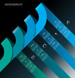 2014 infographic Calendar Blue Royalty Free Stock Photo