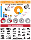 Infographic cargo transportation icons Stock Images