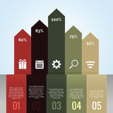 Infographic Chart Arrow Vintage Royalty Free Stock Image