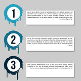 Infographic Chart with banners for presentation, informative forms. Web buttons Stock Photo