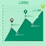 Infographic Chart. Business success solution illustrate graphic  by hand trap clock Stock Photo