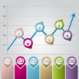 Infographic chart with color pointers Royalty Free Stock Photo