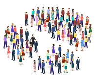 Infographic chart consisting of a crowd of people Stock Images