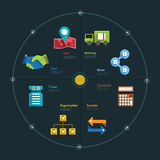 Infographic Chart. Infographic and icon element business connect lifestyle for design layout or graph chart Royalty Free Stock Photos