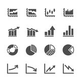 Infographic and chart icon set 5,  eps10 Royalty Free Stock Photo