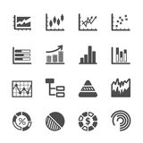 Infographic and chart icon set 2, vector eps10 Stock Images