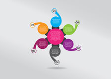 Infographic-chronologie-bloeien-bloem-vormen-ontwerp Stock Afbeeldingen