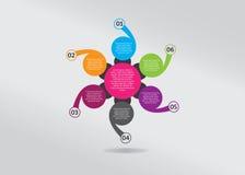 Infographic-chronologie-fleurir-fleur-former-conception Images stock